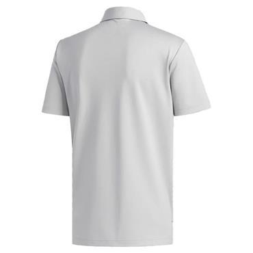 adidas Gents Heather Blocked Polo Shirt Grey