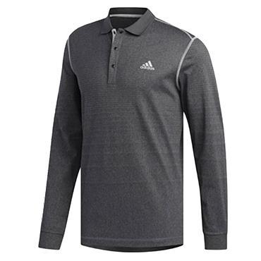 adidas Gents Long Sleeve Thermal Polo Shirt Black