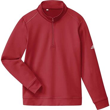adidas Boys Solid 1/2 Zip Sweatshirt Red