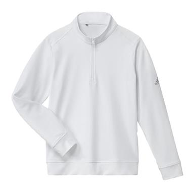 adidas Boys Solid 1/2 Zip Sweatshirt White