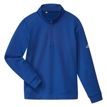 adidas Boys Solid 1/2 Zip Sweatshirt Royal Blue