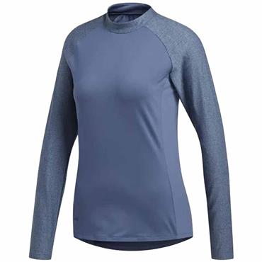 adidas Ladies Sport Long Sleeve Polo Shirt Tech Ink