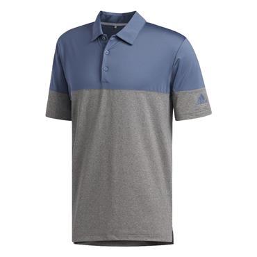 adidas Gents Ultimate365 Heathered Blocked Polo Shirt Grey - Heather