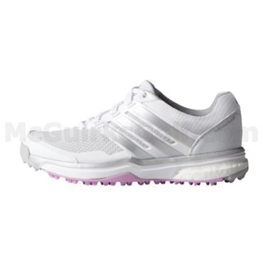 adidas Ladies Adipower Sport Boost Shoes White - Silver