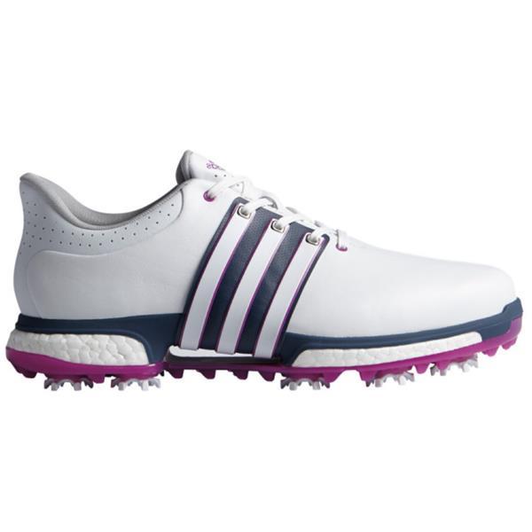 design de qualité 916a9 2de16 adidas Gents Tour 360 Boost Shoes White - Pink - Blue