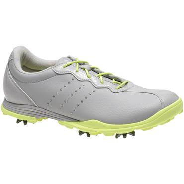 adidas Ladies Adipure DC Golf Shoes Grey - Silver - Yellow