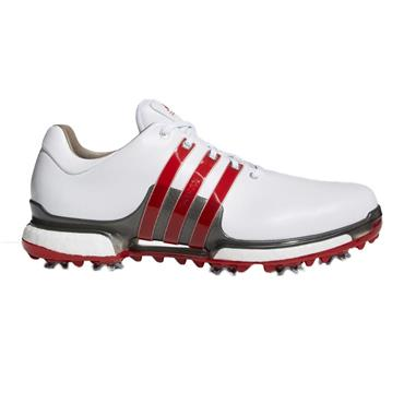 adidas Gents Tour 360 Boost 2.0 Shoes White - Scarlet