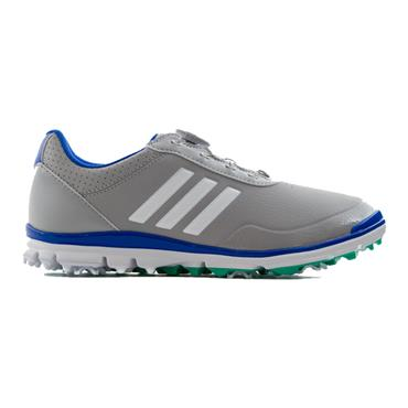 adidas Ladies Adistar Lite BOA Golf Shoes Grey - White - Green