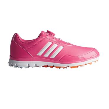 adidas Ladies Adistar Lite BOA Golf Shoes Pink - White - Gold