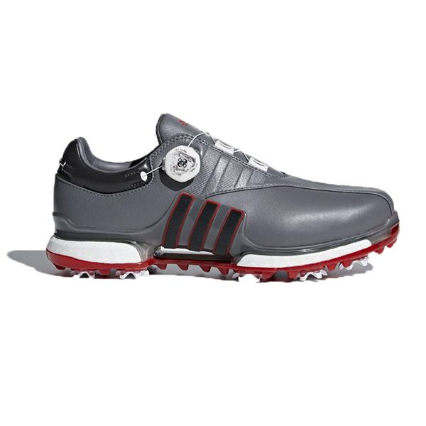 check out 84227 47610 adidas Gents Tour 360 EQT BOA Golf Shoes Grey - Black - Scarlet