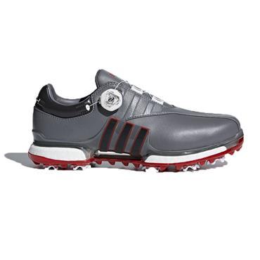 adidas Gents Tour 360 EQT BOA Golf Shoes Grey - Black - Scarlet