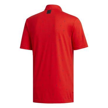 adidas Gents Adicross Drive Polo Shirt Red