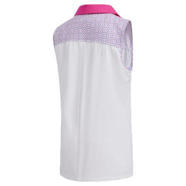 adidas Junior - Girls Printed Colour Block Polo Shirt Shock Pink