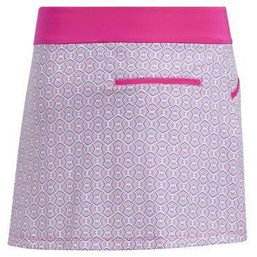 adidas Junior - Girls Printed Skort Shock Pink