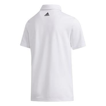 adidas Junior - Boys  3-Stripes Polo Shirt White