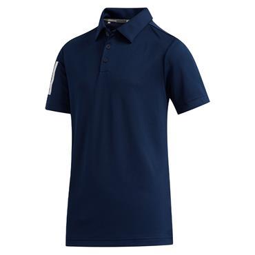 adidas Junior - Boys  3-Stripes Polo Shirt Collegiate Navy