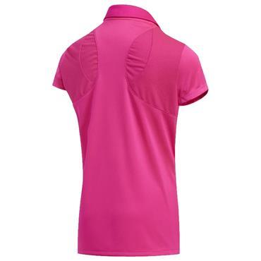 adidas Junior - Girls Solid Fashion Polo Shirt Shock Pink