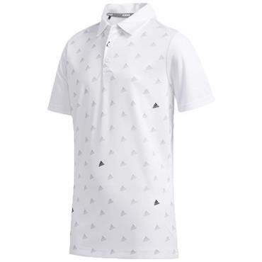 adidas Junior - Boys Printed Polo Shirt White