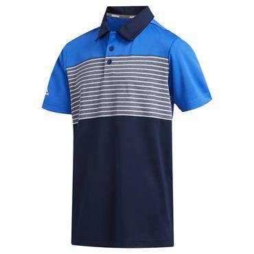 adidas Junior - Boys Engineered Stripe Polo Shirt Glory Blue