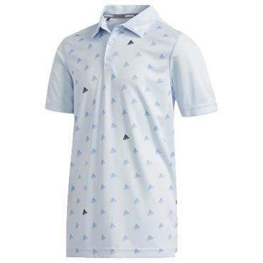 adidas Junior - Boys Printed Polo Shirt Sky - Tint