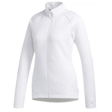 adidas Ladies Full Zip Textured Layer Jacket White