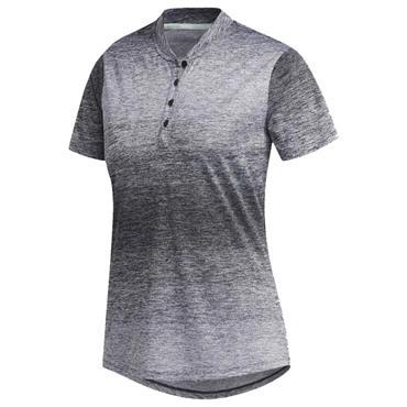 adidas Ladies Gradient Polo Shirt White - Black