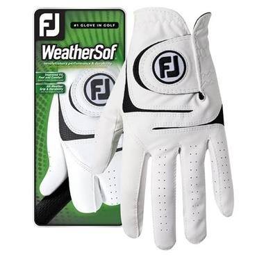 FootJoy Ladies WeatherSof 2-Pack Left Hand Golf Gloves White