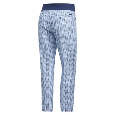 adidas Ladies Printed Pull-On Ankle Trousers Sky Tint