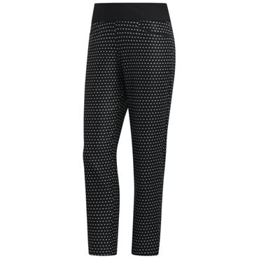 adidas Ladies Printed Pull-On Ankle Pants Black