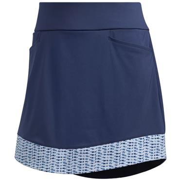 adidas Ladies Ultimate 365 Printed Knit Skirt Tech Indigo