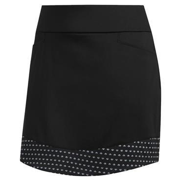 adidas Ladies Ultimate365 Printed Knit Skirt Black