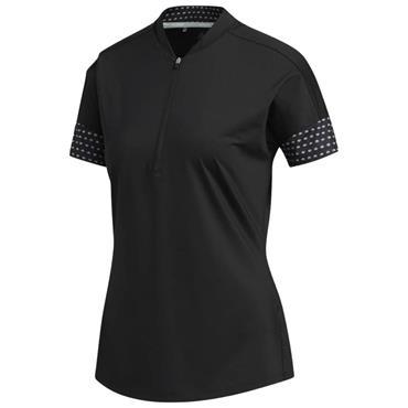 adidas Ladies Ultimate365 Printed Polo Shirt Black