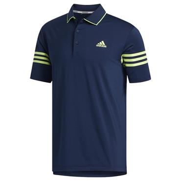 adidas Gents Ultimate365 Blocked Polo Shirt Collegiate Navy - Solar Yellow