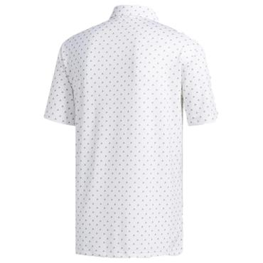 adidas Gents Ultimate365 Badge of Sport Polo Shirt White - Grey