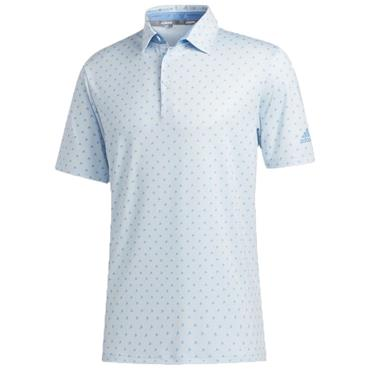 adidas Gents Ultimate365 Badge of Sport Polo Shirt Sky Tint  - Light Blue