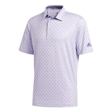 adidas Gents Ultimate Badge of Sport Polo Shirt Purple Tint - Grey Three