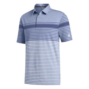 adidas Gents Ultimate365 Engineered Heathered Polo Shirt Royal - Sky Tint