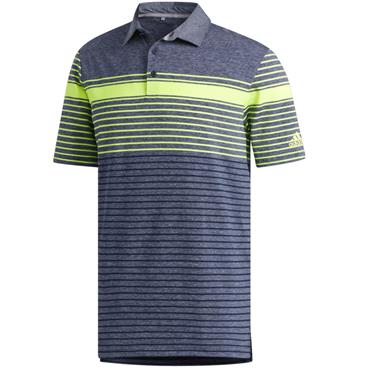 adidas Gents Ultimate 365 Engineered Heathered Polo Yellow - Navy