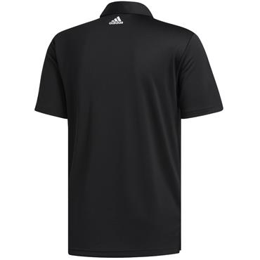 adidas Gents 3 Stripe Basic Polo Black - White