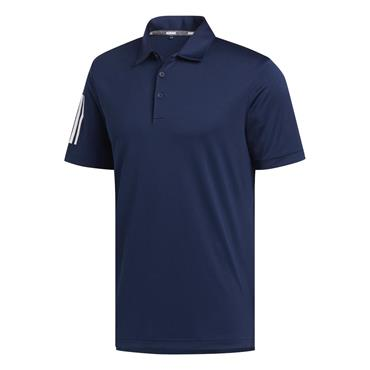 adidas Gents Basic 3-Stripe Polo Shirt Collegiate Navy