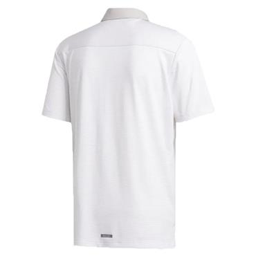 adidas Gents HEAT.RDY Stripe Polo Shirt White - Grey One