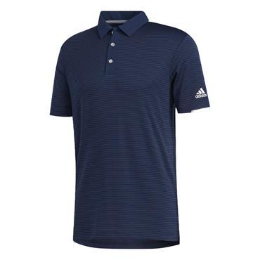 adidas Gents Heat Ready Stripe Polo Collegiate - Navy