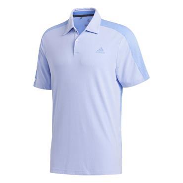 adidas Gents Sport AeroReady Polo Shirt White - Glow Blue