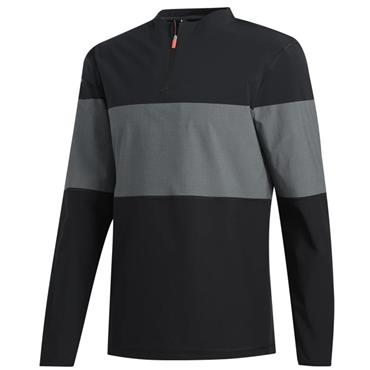adidas Gents Lite Hi Stretch 1/4 Zip Layering Black - Grey