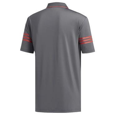 adidas Gents Ultimate365 Blocked Polo Shirt Grey - Real Coral