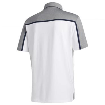 adidas Gents Ultimate 365 Colourblock Polo Shirt White - Grey