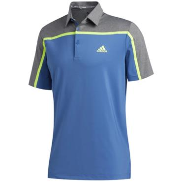 adidas Gents Ultimate 3 Stripe Polo Trace Royal