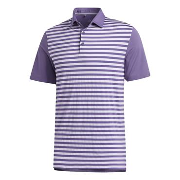 adidas Gents Ultimate365 Stripe Polo Shirt Purple Tint