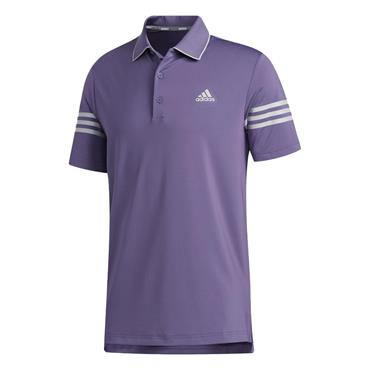 adidas Gents Ultimate365 Blocked Polo Shirt Tech Purple - Grey Two