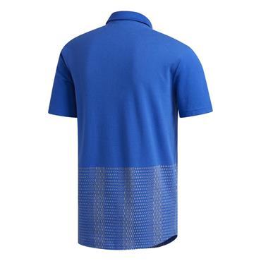 adidas Gents Adicross Novelty Print Polo Shirt Royal